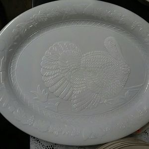 Thanksgiving Turkey Platter  ( Plastic)